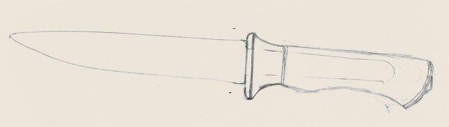 Эскиз ножа выживания